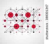 bauhaus art composition ... | Shutterstock .eps vector #388301347
