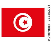 tunisia flag icon button | Shutterstock .eps vector #388303795