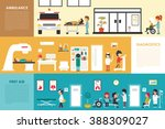 first aid diagnostics ambulance ... | Shutterstock .eps vector #388309027