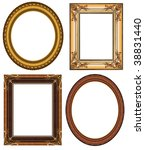 oval and rectangular gold... | Shutterstock . vector #38831440