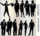 business people 1   vector   Shutterstock .eps vector #38831578