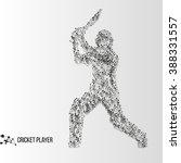 abstract geometric molecule... | Shutterstock . vector #388331557