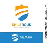 vector road and shield logo... | Shutterstock .eps vector #388332274