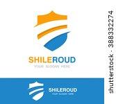 vector road and shield logo... | Shutterstock .eps vector #388332274