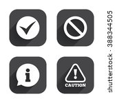 information icons. stop... | Shutterstock . vector #388344505
