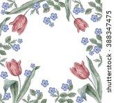 floral arrangement  watercolor | Shutterstock . vector #388347475