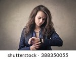 checking the time | Shutterstock . vector #388350055