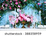 Table Set For An Event Party O...