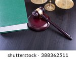 wooden judges gavel  golden