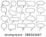 set of different speech bubbles ... | Shutterstock .eps vector #388363687