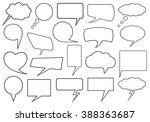 set of different speech bubbles ... | Shutterstock .eps vector #388363687