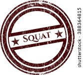 squat rubber stamp with grunge... | Shutterstock .eps vector #388364815