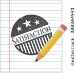 satisfaction pencil effect   Shutterstock .eps vector #388364941