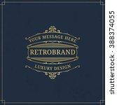 vector calligraphic logo... | Shutterstock .eps vector #388374055