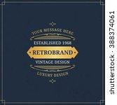 vector calligraphic logo...   Shutterstock .eps vector #388374061