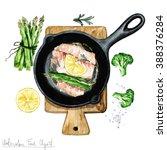 Watercolor Food Clipart   Fish...