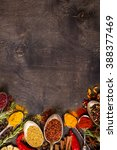 set of various aromatic... | Shutterstock . vector #388377469