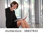 business woman with telephone... | Shutterstock . vector #38837833