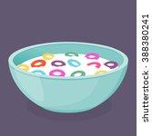 vector illustration of a bowl... | Shutterstock .eps vector #388380241