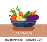 salad ingredients vector set.... | Shutterstock .eps vector #388385029