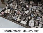 vintage lead letterpress... | Shutterstock . vector #388392409