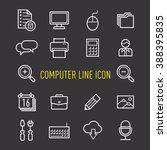 set of computer icon