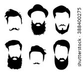 hair and beards detailed set.... | Shutterstock .eps vector #388400275