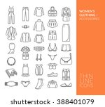 set with thin line icons. women'... | Shutterstock .eps vector #388401079
