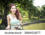 happy young beautiful woman...   Shutterstock . vector #388401877