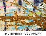 corroded wallpaper as grunge... | Shutterstock . vector #388404247