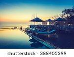 beautiful luxury swimming pool... | Shutterstock . vector #388405399