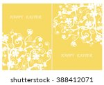 easter day the white flowers on ... | Shutterstock .eps vector #388412071