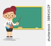 female teacher character in... | Shutterstock .eps vector #388414129
