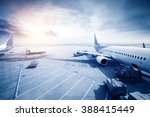 airport with many airplanes at... | Shutterstock . vector #388415449