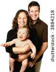 beautiful happy family  with... | Shutterstock . vector #3884218