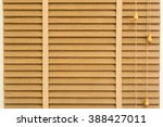 background of louver wood with... | Shutterstock . vector #388427011