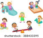 children play with toys in the... | Shutterstock .eps vector #388433395
