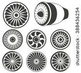 turbine icons set  airplane... | Shutterstock .eps vector #388436254