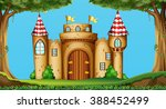 castle towers in the field... | Shutterstock .eps vector #388452499