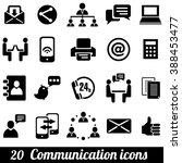 set of 20 communication icons.... | Shutterstock . vector #388453477