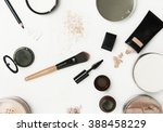 top view of different cosmetics ... | Shutterstock . vector #388458229