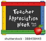 teacher appreciation week... | Shutterstock . vector #388458445