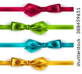 set of shiny satin ribbon on... | Shutterstock . vector #388459651
