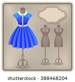 fashionable dress in retro... | Shutterstock . vector #388468204