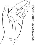 hand with open palm   vector... | Shutterstock .eps vector #388468231