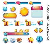 sweet world mobile gui set... | Shutterstock . vector #388499599