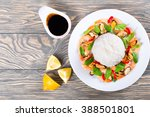 boiled rice and seafood  ... | Shutterstock . vector #388501801