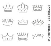 crowns set line | Shutterstock .eps vector #388506229