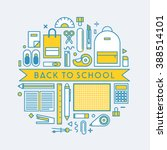back to school with stationery | Shutterstock .eps vector #388514101