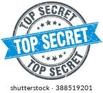 top secret blue round grunge... | Shutterstock .eps vector #388519201